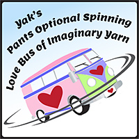 Yak's Pants Optional Spinning Lovebus of Imaginary Yarn